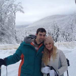 My Wife Becky and I on a Ski Slope