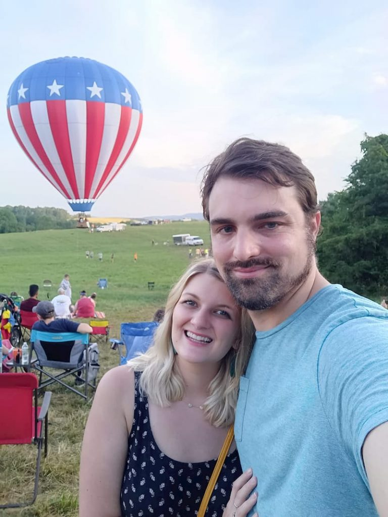 Becky and I at a Hot Air Balloon Festival
